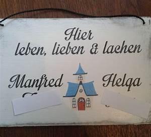 Briefkasten Shabby Chic : shabby chic holzschild leben lieben lachen ~ Michelbontemps.com Haus und Dekorationen