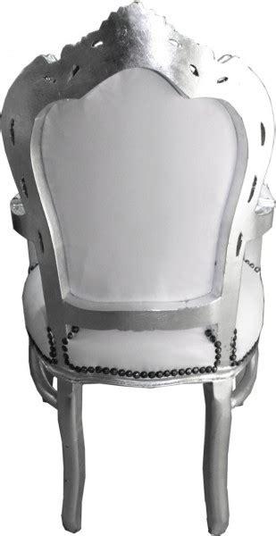 Esszimmer Le Silber by Casa Padrino Barock Esszimmer Stuhl Mit Armlehnen Wei 223