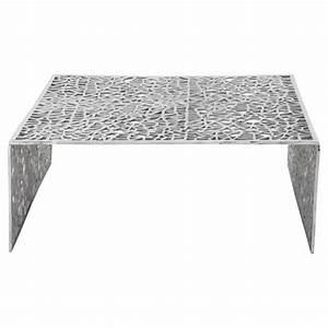 Table Basse Carrée Design : table basse de salon carr e lady en aluminium ~ Teatrodelosmanantiales.com Idées de Décoration