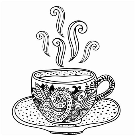 You could also print the picture using the print button above the image. Coffee Cup Adult Coloring Pages - Coloring Pages Ideas