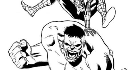 hulk  spiderman coloring pages coloring sheets