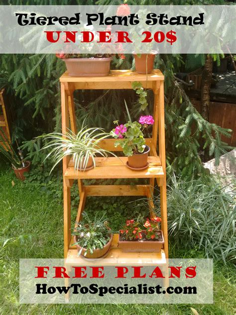 Patio Plant Stand Plans by How To Build A Tiered Plant Stand Howtospecialist How