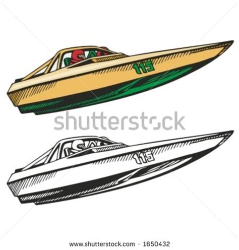 Fast Boat Vector by Speed Boat On Water Clipart Clipground