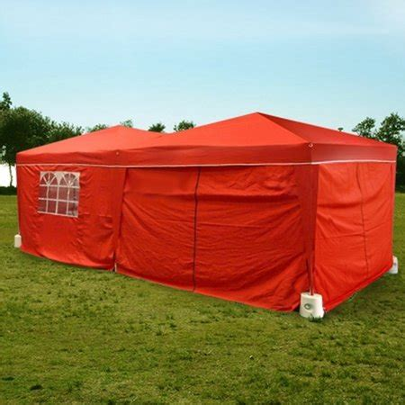 palm springs red ez pop  canopy gazebo party tent   side walls walmartcom