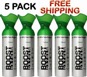 Oxygen In A Can Boost Oxygen 5 Pack Oxygen Therapy 22 Oz