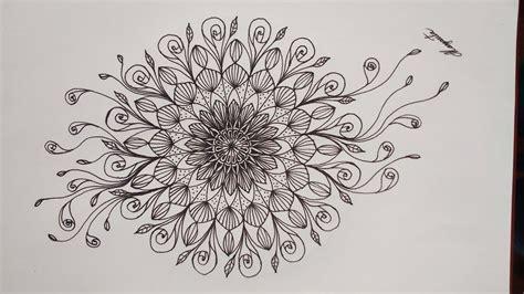como dibujar  hermoso mandala simetrico facil