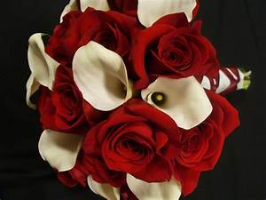 florissimo: red roses and white calla lilies