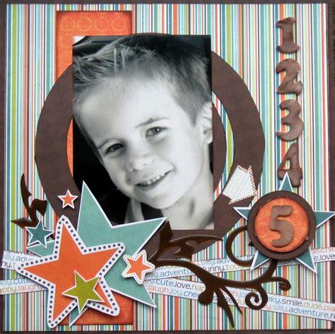 scrapbooking boy layout ideas images  pinterest
