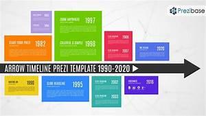 Arrow Diagram Timeline History For Company Prezi Template