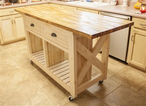 white double kitchen island with butcher block top diy projects