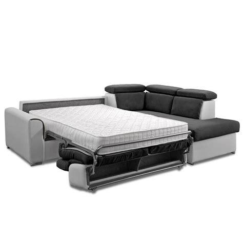 canapé d angle convertible avec vrai matelas canapé d 39 angle ouverture express convertible au meilleur