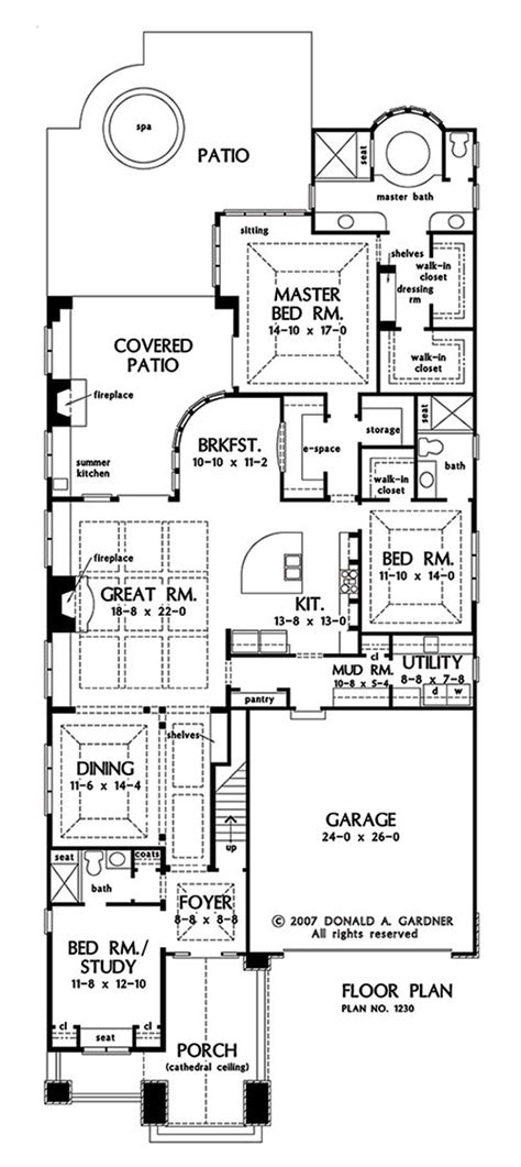 plan   week small ranch large bungalow  week  featuring  open concept ranch