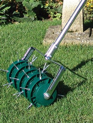 lawn aerator lawn aerating with solid tines or spikes