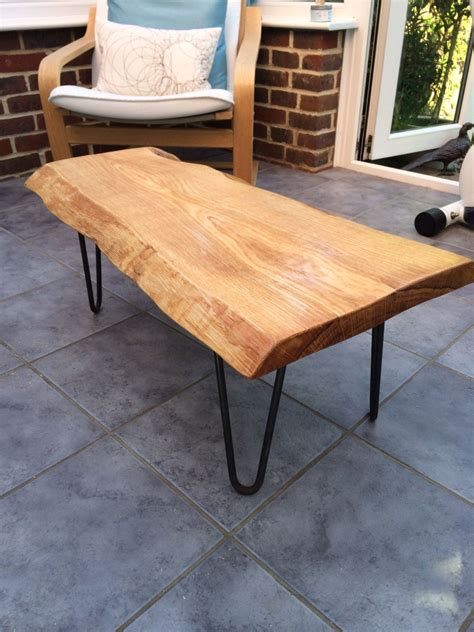 Free shipping on orders over $49! Custom made waney edge oak slab table tops made by ...
