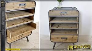 Objet Deco Style Industriel : chiffonnier de style r tro et industriel en bois et m tal ~ Melissatoandfro.com Idées de Décoration