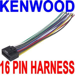 Kenwood Wire Wiring Harness Pin Radio Stereo