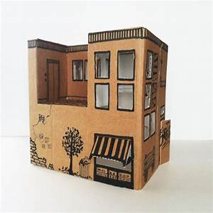 Instruction from Mom: how to make a simple toy house from