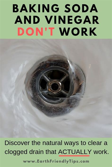 natural ways  clear  clogged drain earth friendly