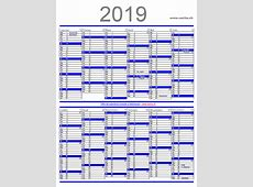 calendrier2019annuelh Printable 2018 calendar Free