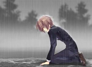Sad Anime Boy | Alone Sad Anime Boy in Rain | Anime ...