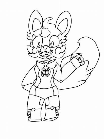 Coloring Foxy Fnaf Pages Funtime Freddy Lineart