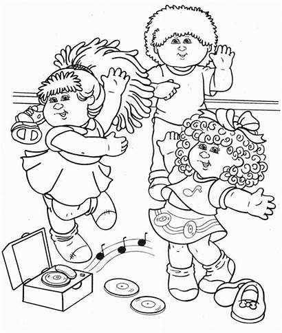 Coloring Pages Cabbage Patch Colouring Clipart Sheets