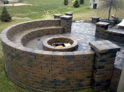 built in pit built in fire pit end caps for the home pinterest fire pits outdoor fire and outdoor
