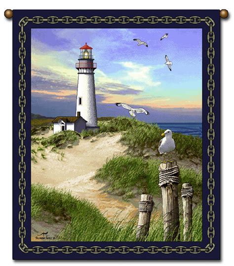 27x36 lighthouse ocean tapestry wall hanging ebay