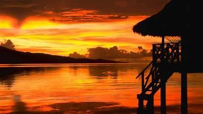 Sunset Hawaiian Music Relax Beach Hawaii Gentle