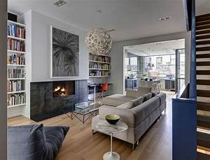 Contemporary appearance camouflaging brooklyn roots slate for Interior design living room townhouse