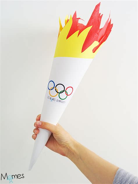 fabriquer une flamme olympique momes
