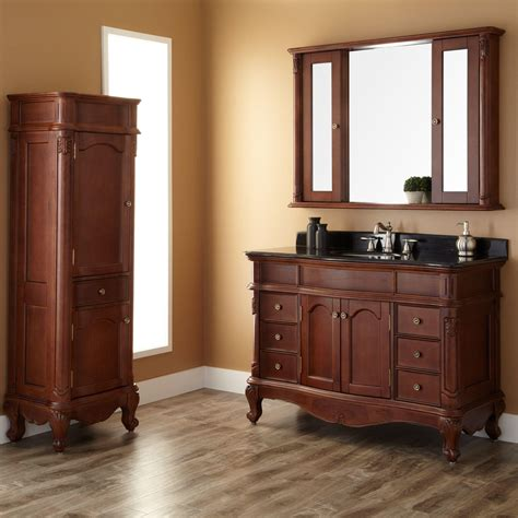 vanity cabinet 48 quot sedwick brown cherry vanity bathroom