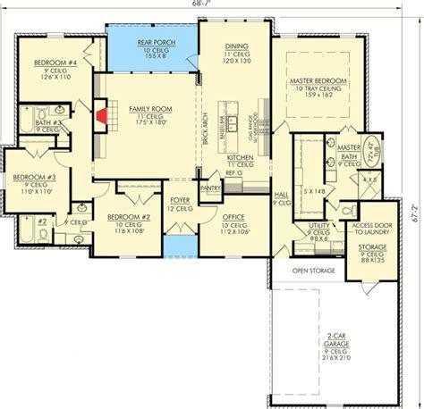louisiana inspired  bedroom home plan sm st floor master suite acadian butler walk