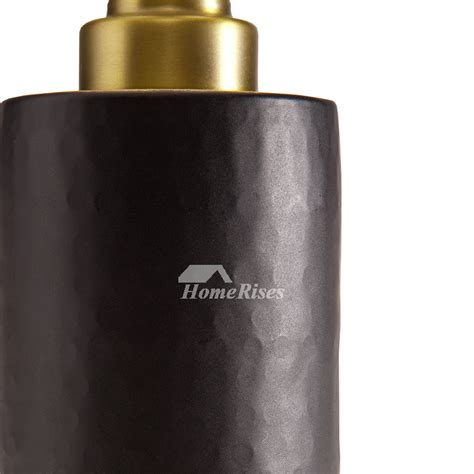 luxury vintage gold black bathroom liquid soap dispenser