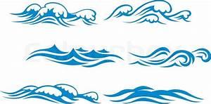 Wave symbols | Stock Vector | Colourbox