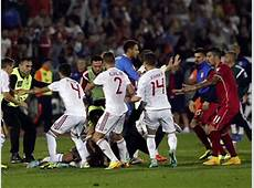 Drone at SerbiaAlbania soccer match sparks diplomatic