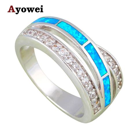 wedding ring price in usa engagement rings for lover blue opal silver sted wholesale price zircon fashion jewelry