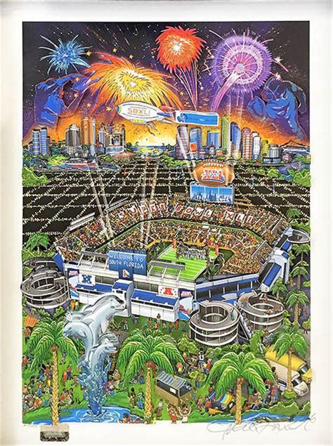 Super Bowl Xli By Charles Fazzino Premier Pop Art