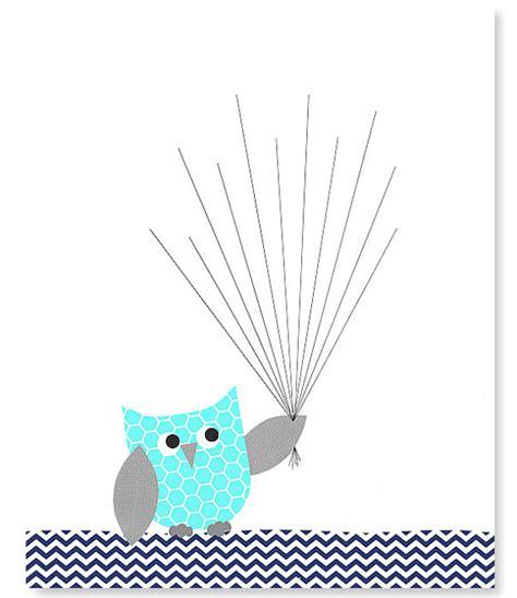 Owl Baby Shower by Fingerabdruck Baby Dusche Alternative Gast Buch Eule