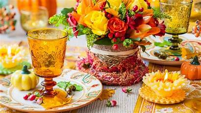 Flowers Thanksgiving Table Dinner Decoration Flower Roses