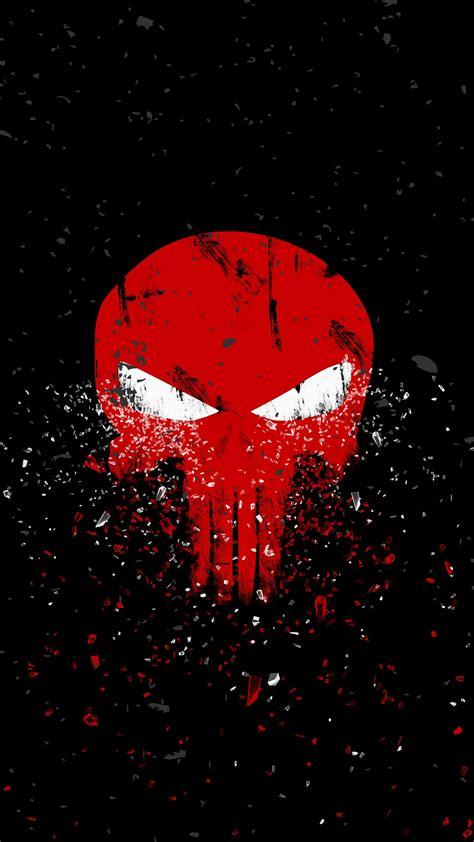 wallpaper punisher logo dark background hd creative