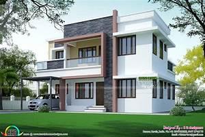 Simple But Beautiful Flat Roof House Kerala Home Design Floor
