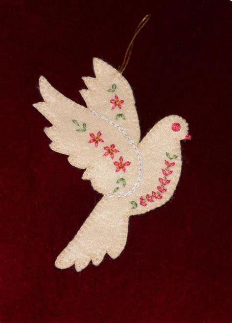 christmas dove pattern homemade christmas decorations