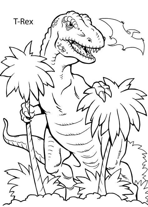 rex dinosaur coloring pages  kids printable