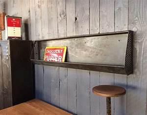 Etagere Industrielle Murale : etag re industrielle murale en m tal mobilier industriel ~ Preciouscoupons.com Idées de Décoration