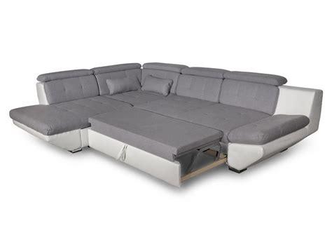 canapé gris clair convertible canapé convertible avec tiroir bi matière gris clair