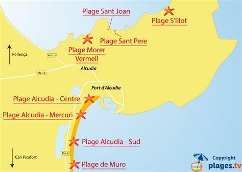 Carte Des Plages Nord by Plages Port D Alcudia Station Baln 233 Aire De Port D
