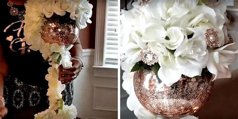 Rose Gold Centerpiece DIY by Natanya Dowel Totally Dazzled