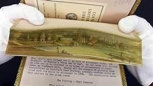Painting hidden in gilt edges of rare book  CornellCast