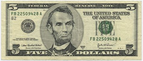 United States Currency$5 Bill Wikiversity